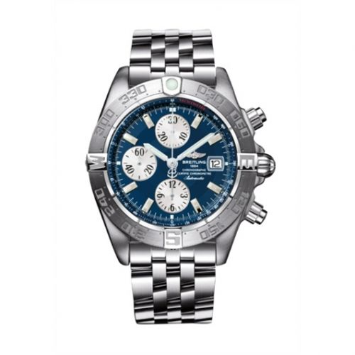 Breitling A1336410/C645/379A : Galactic Chronograph II Stainless Steel / Blue