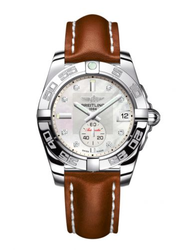 Breitling A3733012/A717/412X/A16BA.1 : Galactic 36 Automatic Stainless Steel / Pearl Diamond / Calf