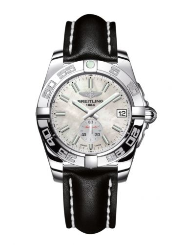 Breitling A3733012/A788/414X/A16BA.1 : Galactic 36 Automatic Stainless Steel / Pearl / Calf