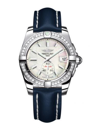 Breitling A3733053/A716/194X/A16BA.1 : Galactic 36 Automatic Stainless Steel / Diamond / Pearl / Calf