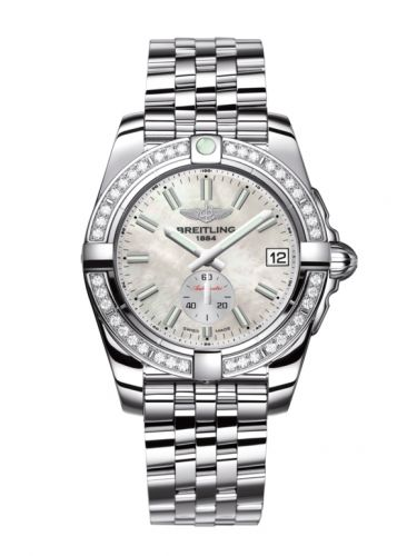 Breitling A3733053/A788/376A : Galactic 36 Automatic Stainless Steel / Diamond / Pearl / Bracelet