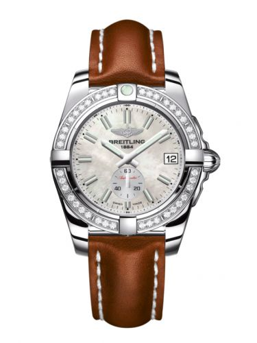 Breitling A3733053/A788/412X/A16BA.1 : Galactic 36 Automatic Stainless Steel / Diamond / Pearl / Calf