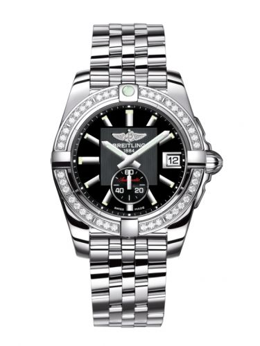 Breitling A3733053/BA33/376A : Galactic 36 Automatic Stainless Steel / Diamond / Volcano Black / Bracelet