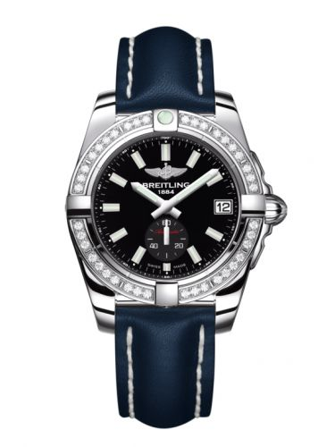 Breitling A3733053/BE77/194X/A16BA.1 : Galactic 36 Automatic Stainless Steel / Diamond / Onyx Black / Calf