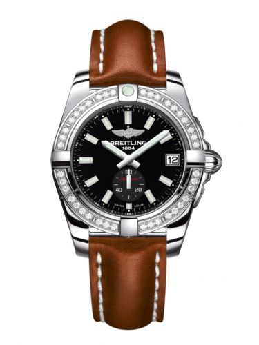 Breitling A3733053/BE77/412X/A16BA.1 : Galactic 36 Automatic Stainless Steel / Diamond / Onyx Black / Calf