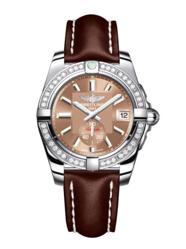 Breitling A3733053/Q582/416X/A16BA.1 : Galactic 36 Automatic Stainless Steel / Diamond / Copperhead Bronze / Calf