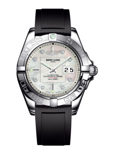 Breitling A49350L2.A702.132S : Galactic 41 Stainless Steel / Pearl Diamond / Rubber