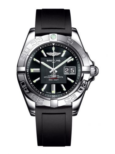 Breitling A49350L2.BA07.132S : Galactic 41 Stainless Steel / Trophy Black / Rubber