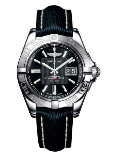Breitling A49350L2.BA07.220X : Galactic 41 Stainless Steel / Trophy Black / Sahara
