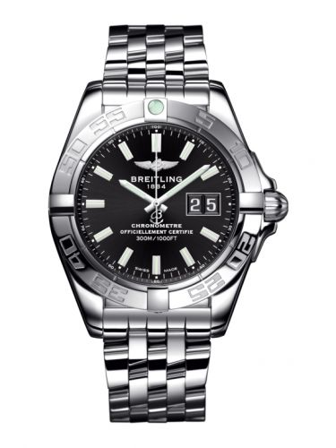 Breitling A49350L2.BE58.366A : Galactic 41 Stainless Steel / Onyx Black / Bracelet