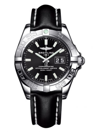 Breitling A49350L2.BE58.428X : Galactic 41 Stainless Steel / Onyx Black / Calf