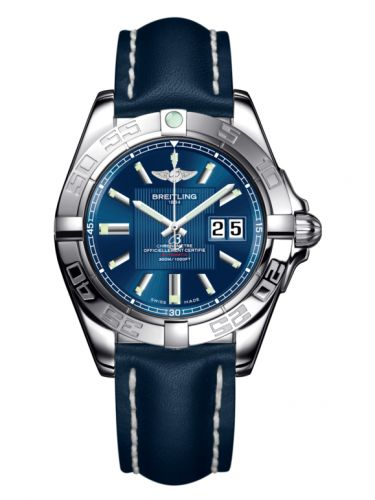 Breitling A49350L2.C806.113X : Galactic 41 Stainless Steel / Metallica Blue / Calf