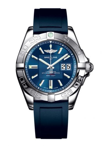 Breitling A49350L2.C806.138S : Galactic 41 Stainless Steel / Metallica Blue / Rubber
