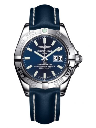 Breitling A49350L2.C929.113X : Galactic 41 Stainless Steel / Horizon Blue / Calf