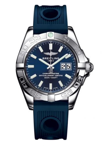 Breitling A49350L2.C929.203S : Galactic 41 Stainless Steel / Horizon Blue / Rubber