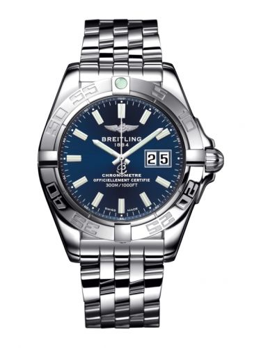 Breitling A49350L2.C929.366A : Galactic 41 Stainless Steel / Horizon Blue / Bracelet