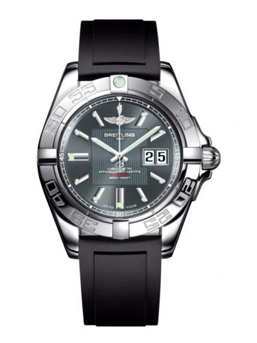 Breitling A49350L2.F549.132S : Galactic 41 Stainless Steel / Tomcat Gray / Rubber