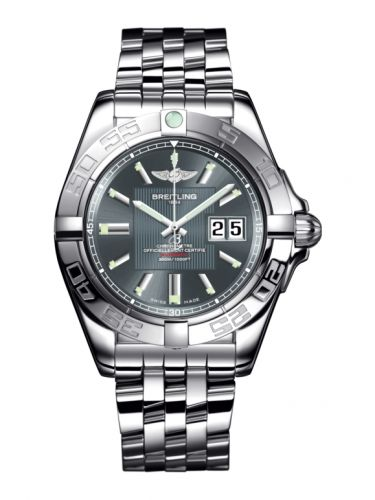 Breitling A49350L2.F549.366A : Galactic 41 Stainless Steel / Tomcat Gray / Bracelet