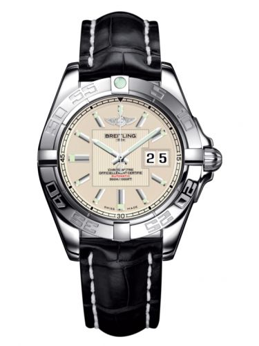 Breitling A49350L2.G699.728P : Galactic 41 Stainless Steel / Sierra Silver / Croco