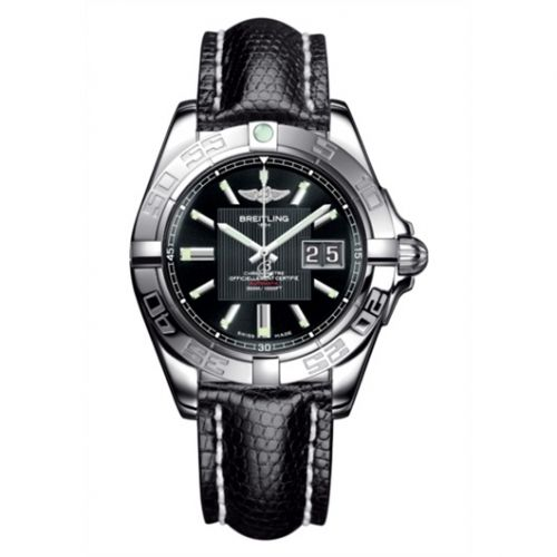 Breitling A49350L2.BA07.145Z : Galactic 41 Stainless Steel / Trophy Black / Teju