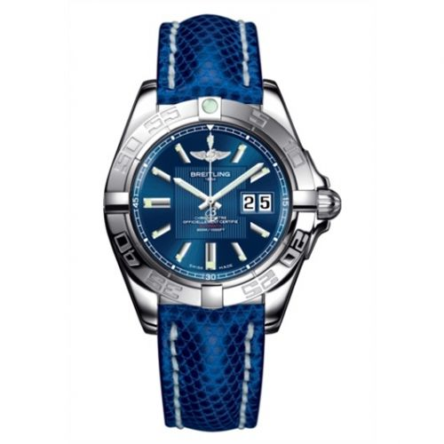 Breitling A49350L2.C806.143Z : Galactic 41 Stainless Steel / Metallica Blue / Teju