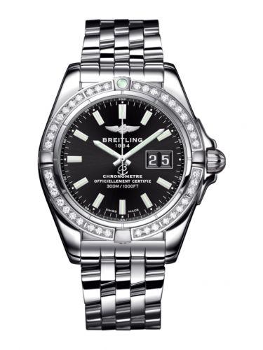 Breitling A49350LA.BE58.366A : Galactic 41 Stainless Steel / Diamond / Onyx Black / Bracelet