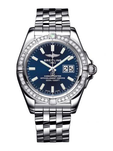 Breitling A49350LA.C929.366A : Galactic 41 Stainless Steel / Diamond / Horizon Blue / Bracelet