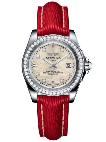 Breitling A7133053/A801/209X/A14BA.1 : Galactic 32 Sleek Edition Stainless Steel / Diamond / Pearl Diamond / Sahara