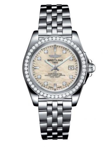 Breitling A71330531A1A1 : Galactic 32 Sleek Edition Stainless Steel / Diamond / Pearl Diamond / Bracelet
