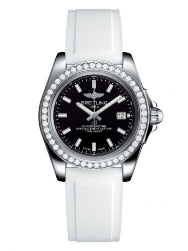 Breitling A7133053/BF62/164S/A14S.1 : Galactic 32 Sleek Edition Stainless Steel / Diamond / Trophy Black / Rubber