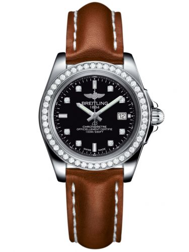 Breitling A7133053/BF63/406X/A14BA.1 : Galactic 32 Sleek Edition Stainless Steel / Diamond / Trophy Black Diamond / Calf