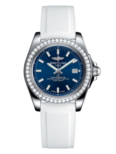 Breitling A7133053/C951/164S/A14S.1 : Galactic 32 Sleek Edition Stainless Steel / Diamond / Horizon Blue / Rubber