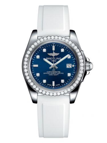 Breitling A7133053/C966/164S/A14S.1 : Galactic 32 Sleek Edition Stainless Steel / Diamond / Horizon Blue Diamond / Rubber