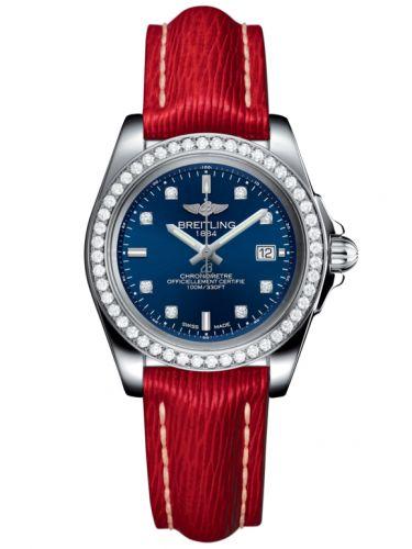 Breitling A7133053/C966/209X/A14BA.1 : Galactic 32 Sleek Edition Stainless Steel / Diamond / Horizon Blue Diamond / Sahara