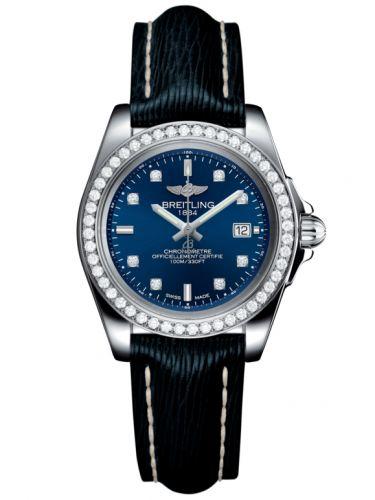 Breitling A7133053/C966/210X/A14BA.1 : Galactic 32 Sleek Edition Stainless Steel / Diamond / Horizon Blue Diamond / Sahara