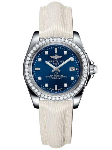 Breitling A7133053/C966/235X/A14BA.1 : Galactic 32 Sleek Edition Stainless Steel / Diamond / Horizon Blue Diamond / Sahara