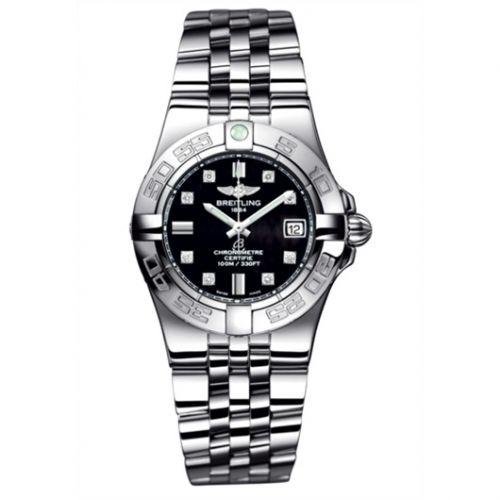 Breitling A71340L2.BA14.368A : Galactic 30 Black / Diamond / Bracelet