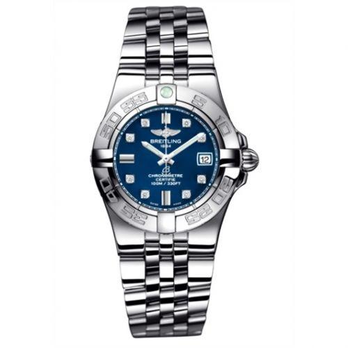 Breitling A71340L2.C814.368A : Galactic 30 Blue / Diamond / Bracelet