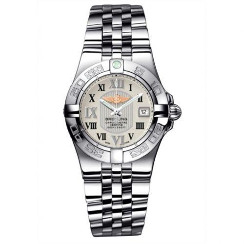 Breitling A71340L2.G670.368A : Galactic 30 Silver / Roman / Bracelet