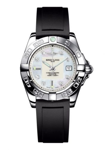 Breitling A71356L2.A708.133S : Galactic 32 Stainless Steel / Pearl Diamond / Rubber