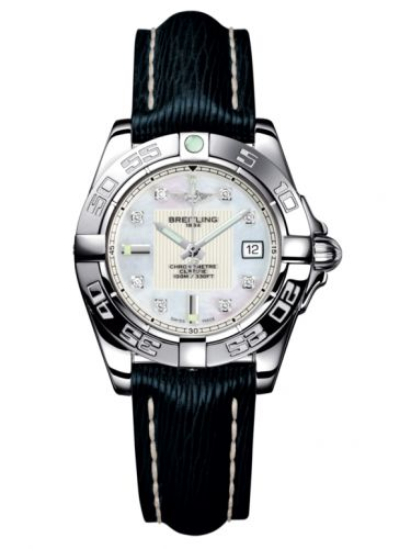 Breitling A71356L2.A708.210X : Galactic 32 Stainless Steel / Pearl Diamond / Sahara