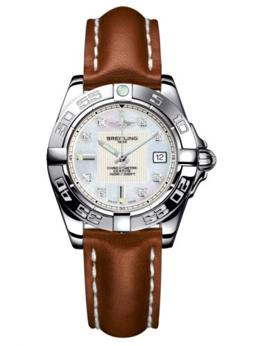 Breitling A71356L2.A708.406X : Galactic 32 Stainless Steel / Pearl Diamond / Calf