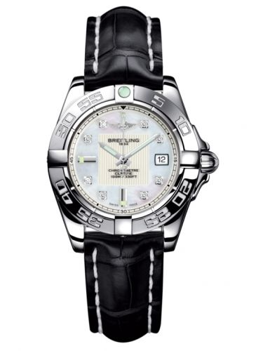 Breitling A71356L2.A708.777P : Galactic 32 Stainless Steel / Pearl Diamond / Croco
