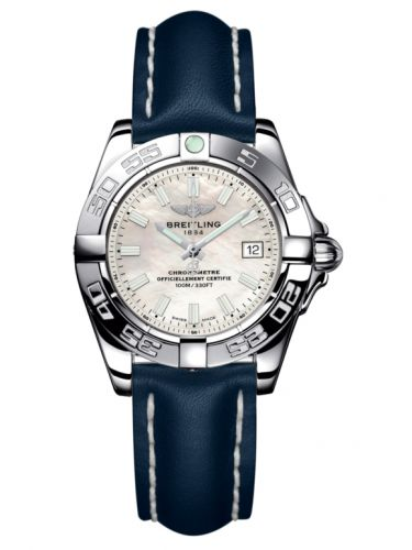 Breitling A71356L2.A787.116X : Galactic 32 Stainless Steel / Pearl / Calf