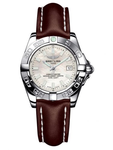Breitling A71356L2.A787.410X : Galactic 32 Stainless Steel / Pearl / Calf