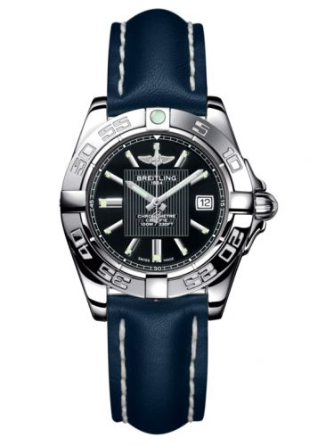 Breitling A71356L2.BA10.116X : Galactic 32 Stainless Steel / Trophy Black / Calf