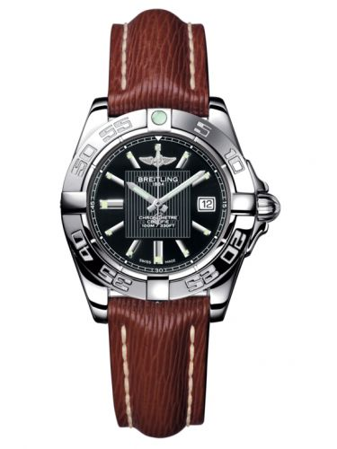 Breitling A71356L2.BA10.211X : Galactic 32 Stainless Steel / Trophy Black / Sahara