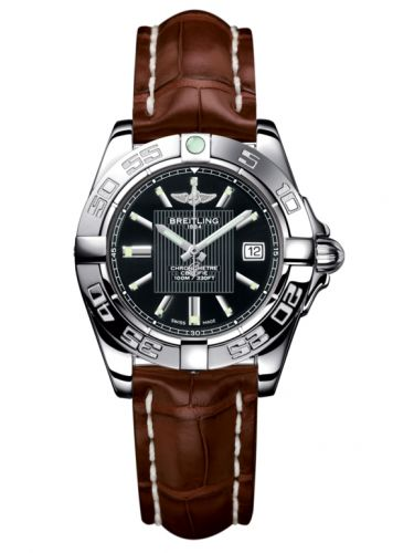 Breitling A71356L2.BA10.778P : Galactic 32 Stainless Steel / Trophy Black / Croco