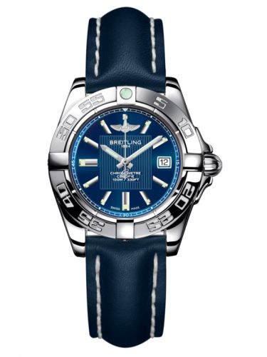 Breitling A71356L2.C811.116X : Galactic 32 Stainless Steel / Metallica Blue / Calf