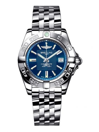 Breitling A71356L2.C811.367A : Galactic 32 Stainless Steel / Metallica Blue / Bracelet
